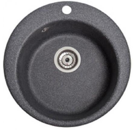 Мойка для кухни Solid Пони (чёрный) D475mm