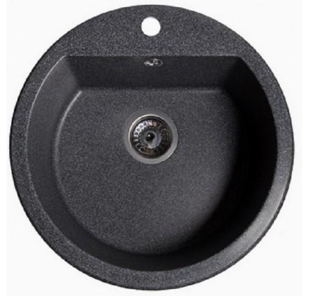 Мойка для кухни Solid Раунд (чёрный) D510mm