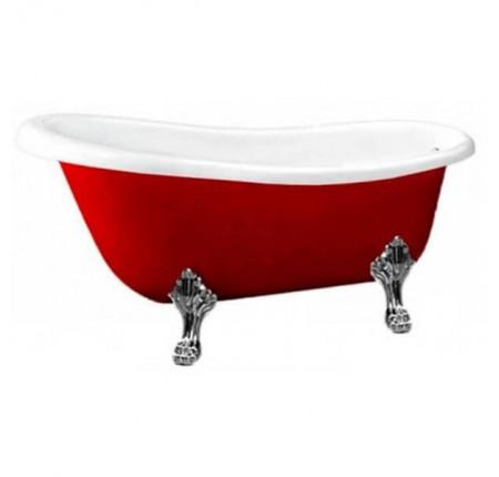 Ванна отдельно стоящая Atlantis C-3015 Red серебро (с переливом) 170х78