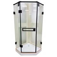 Душевая кабина Veronis KN-10-90 Black 90х90х209, прозрачное стекло