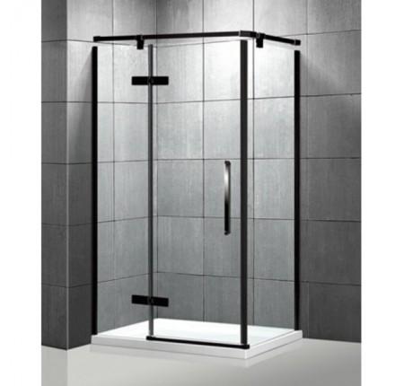 Душевая кабина Veronis KN-10-30 Black 100х80х204, прозрачное стекло