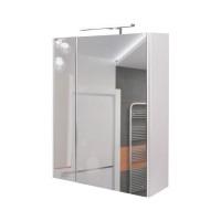 Зеркальный шкаф Q-Tap Albatross WHI ZP600L 60 см + светильник