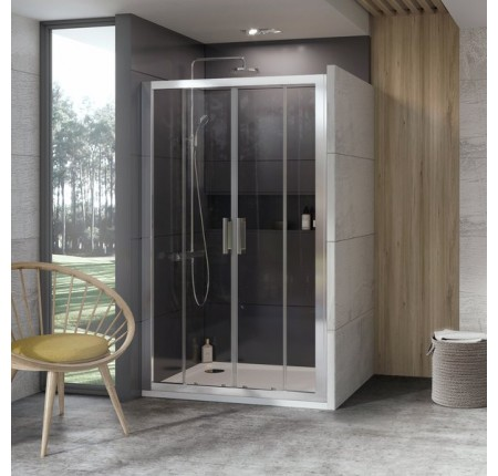 Душевая дверь Ravak 10° 10DP4-140 0ZKM0100Z1 белый+transparent