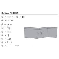 Крепление для панели ванны Ravak BeHappy B21200000N