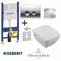Набор Villeroy&Boch 5685HR01 Omnia Architectura Directflush + крышка Soft Close + GEBERIT 458.161.21.1
