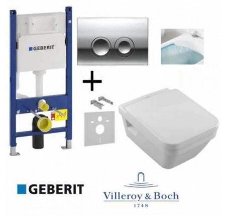Набор Villeroy&Boch 5685HR01 Omnia Architectura Directflush + крышка Soft Close + GEBERIT 458.121.21.1