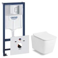 Набор Grohe 38772001 инсталляция+Volle Libra Rimless 13-41-160, сиденье slim