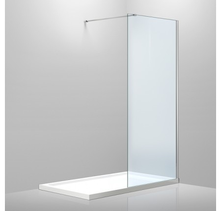 Стенка Volle 18-08-100H Walk-In 1000x200см, каленое прозрачное стекло 8мм