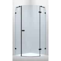 Душевая кабина Volle De La Noche 10-40-192black 90x90x200см (стекла + двери), реверсивная, распашная, стекло прозрачное 8мм