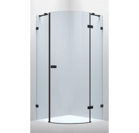 Душевая кабина Volle De La Noche 10-40-192Rblack 90x90x200см (стекла + двери), распашная, стекло прозрачное 8мм с Nano покрытием