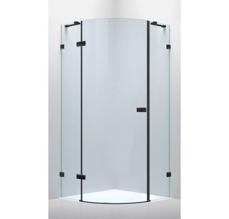 Душевая кабина Volle De La Noche 10-40-192Lblack 90x90x200см (стекла + двери), распашная, стекло прозрачное 8мм с Nano покрытием