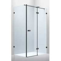 Душевая кабина Volle De La Noche 10-40-195-black 120x90x200см (стекла + двери),реверсивная, распашная, стекло прозрачное 8мм