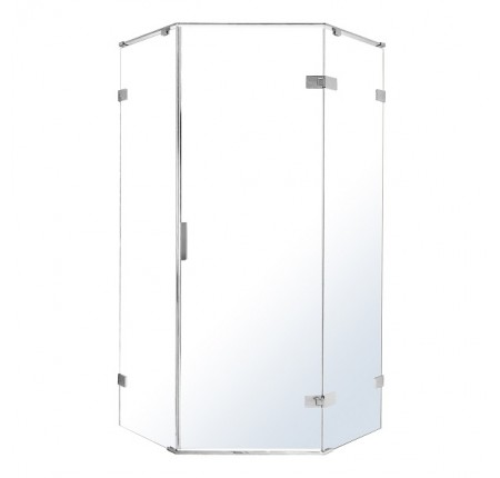 Душевая кабина Volle Nemo 10-22-170Rglass 90x90x195см, распашная, прозрачное стекло 8мм, зеркальный хром