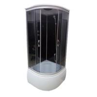 Гидромассажный бокс Atlantis ALK100P ECO 100x100x215 черный / белый