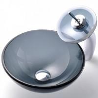 Умывальник стеклянный KRAUS GV-104-14-12мм