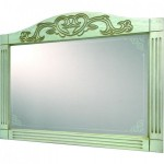 Зеркало Devit Sheffield 5010133WHPB, 130см белая патина