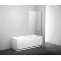 Шторка для ванны Ravak PVS1-80 белый transparent (79840100Z1)