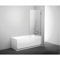 Шторка для ванны Ravak BVS1-80 хром transparent (7U840A00Z1)