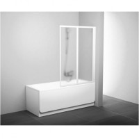Шторка для ванны Ravak VS2-105 белый transparent (796M0100Z1)