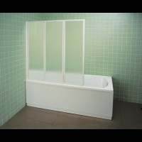 Шторка для ванны Ravak VS3-100 белый rain (795P010041)